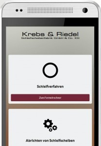 formelrechner abrasive app von krebs riedel. Black Bedroom Furniture Sets. Home Design Ideas
